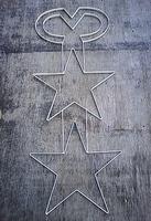 「金網」の大栄金網工業株式会社。「チューブライト用取り付け枠・☆☆マーク」のサンプル画像です。