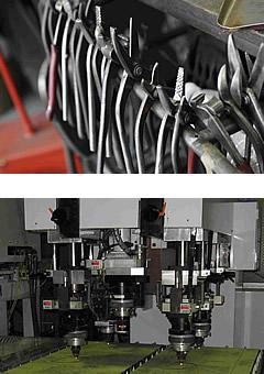 金網の大栄金網工業株式会社。使い込まれた工具類と最新のレーザ加工用機械です。