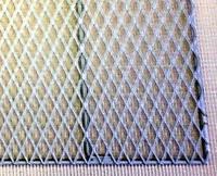 クリンプ金網_ステンレスエキスパンド製ケージ棚板・右手前拡大の画像です。