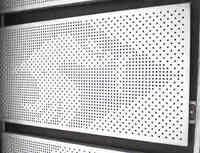 「金網」の大栄金網工業株式会社。「アルミアートパンチング」のサンプル画像です。